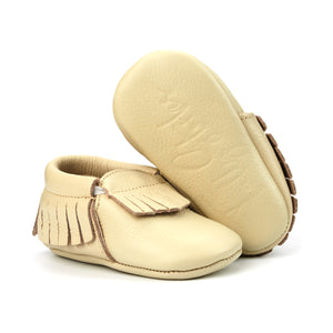 Ivory Baby Moccasins
