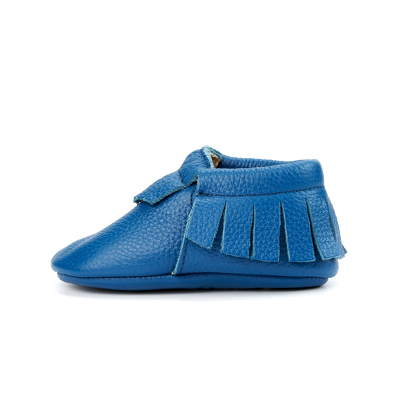 Baby Royal Blue Moccasins