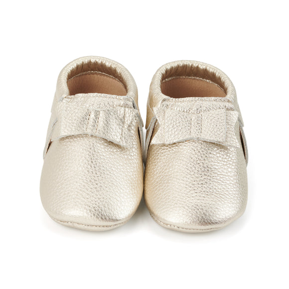 Shiny Gold Baby Moccasins