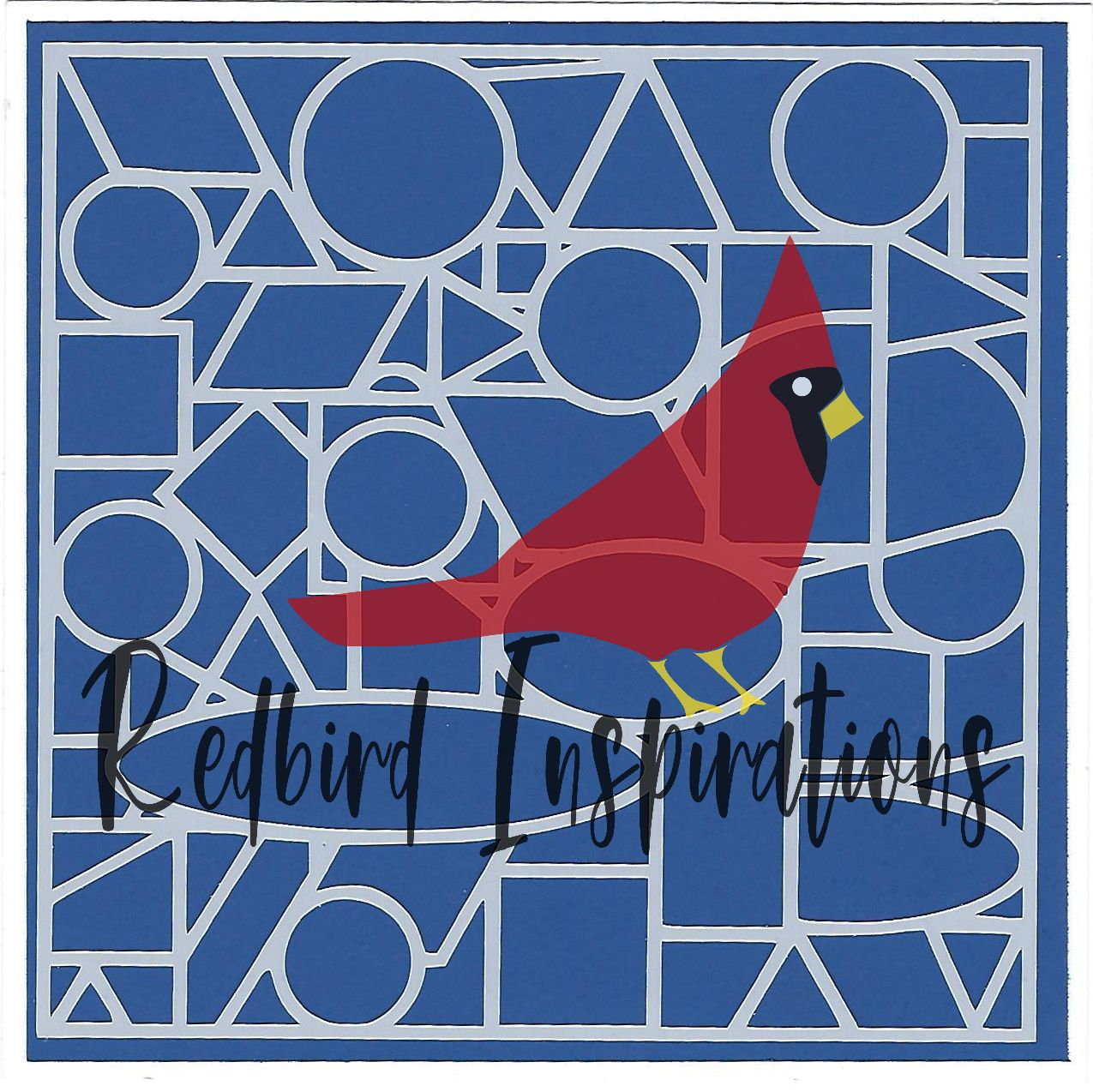 Redbird Inspirations Original Stencil, 6 x 6 Inch, Abstract D - Redbird Inspirations