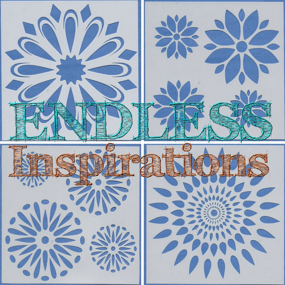 Endless Inspirations Original Stencils, 6 x 6 inch, All The Flowers Bundle 1, 4 Pack - Dandelions, Flower Circle, Flower Petals, Poinsettia 2 - Redbird Inspirations