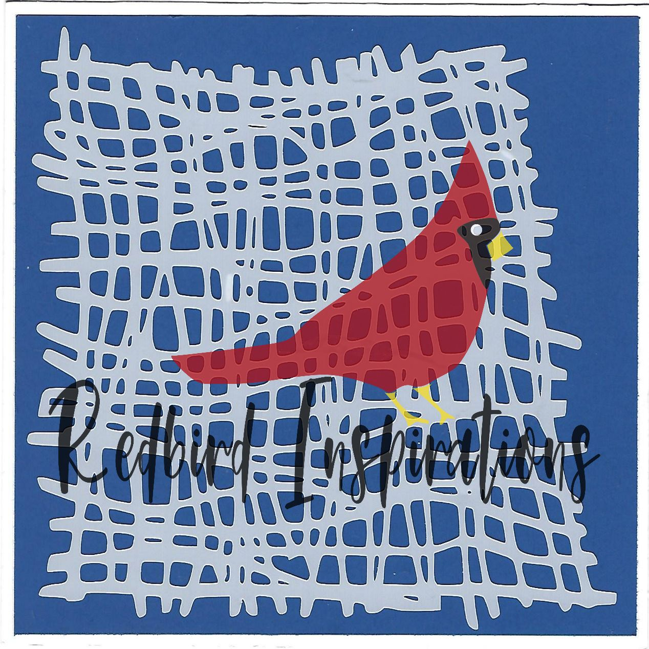 Redbird Inspirations Original Stencil, 6 x 6 Inch, Cheesecloth - Redbird Inspirations