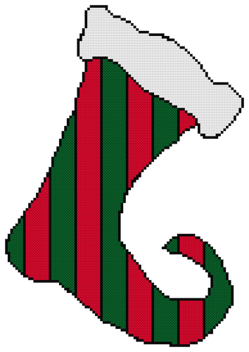 Endless Inspirations Original Cross Stitch Pattern, Christmas Stocking - Redbird Inspirations