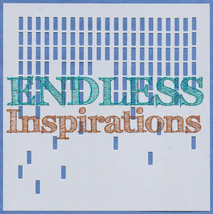 Endless Inspirations Original Stencils, 6 x 6 inch, All The The Textures 1, 4 Pack - Barking Up The Wrong Tree, Brick Wall, Cheesecloth, Falling Blocks - Redbird Inspirations