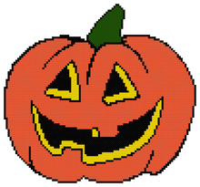 Load image into Gallery viewer, Endless Inspirations Original Cross Stitch Pattern, Halloween Pumpkin - Redbird Inspirations