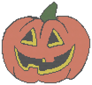 Endless Inspirations Original Cross Stitch Pattern, Halloween Pumpkin - Redbird Inspirations
