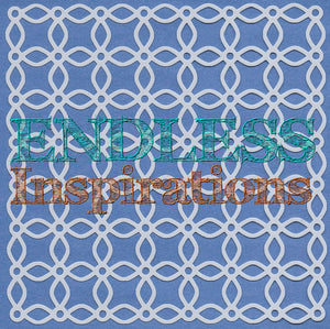 Endless Inspirations Original Stencil, 6 x 6 inch, Interweave Flowers - Redbird Inspirations