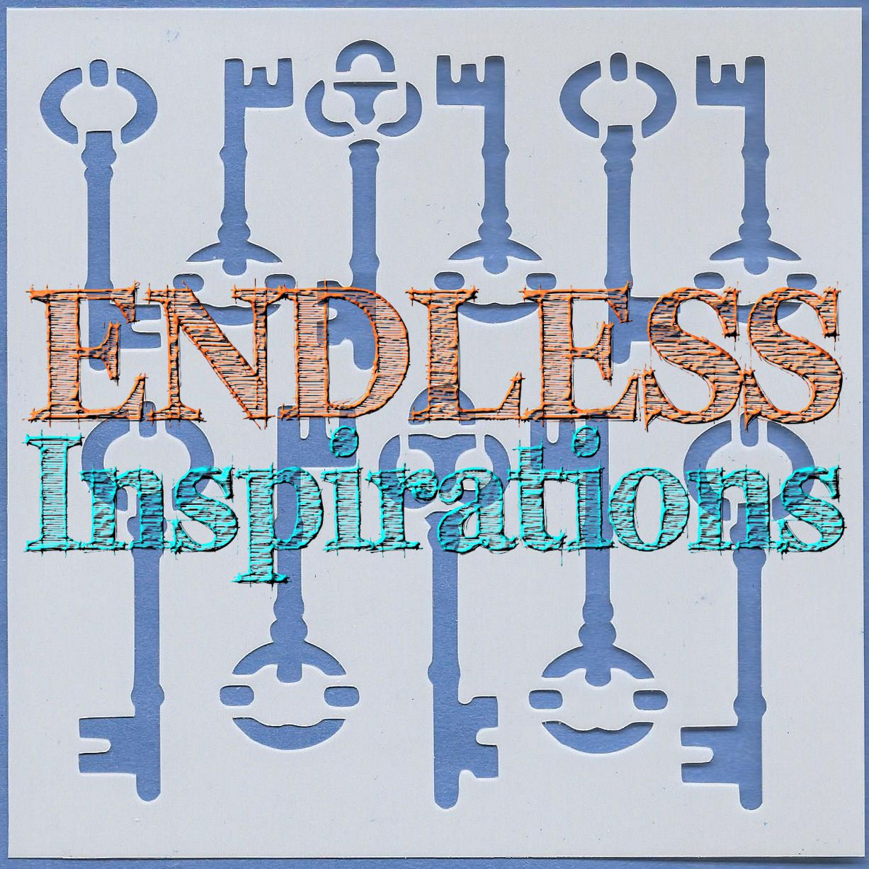 Endless Inspirations Original Stencil, 6 x 6 Inch, Keys in a Row - Redbird Inspirations