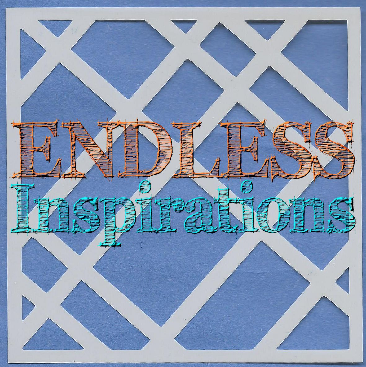 Endless Inspirations Original Stencil, 6 x 6 Inch, Lattice Fun - Redbird Inspirations