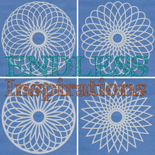 Load image into Gallery viewer, Endless Inspirations Original Stencils, 6 x 6 inch, Mandala Bundle 1, 4 Pack - Mandala 1, 2, 3, 4 - Redbird Inspirations