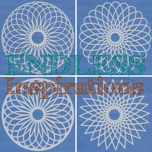 Endless Inspirations Original Stencils, 6 x 6 inch, Mandala Bundle 1, 4 Pack - Mandala 1, 2, 3, 4 - Redbird Inspirations