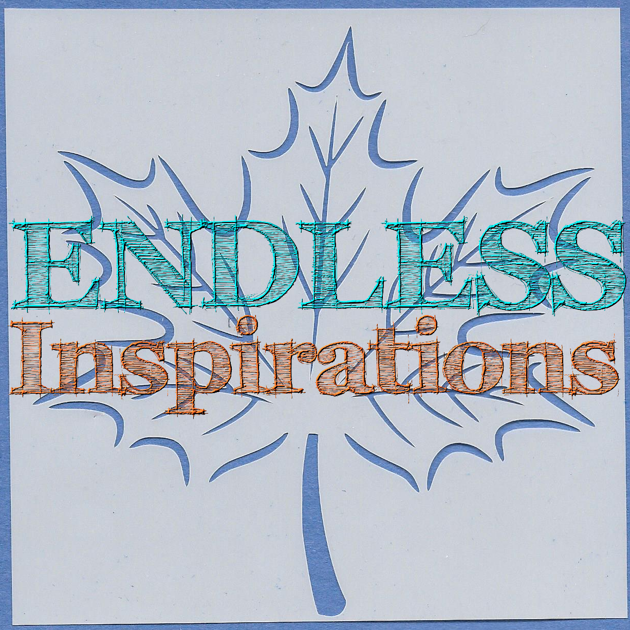 Endless Inspirations Original Stencil, 6 x 6 Inch, Maple Leaf - Redbird Inspirations