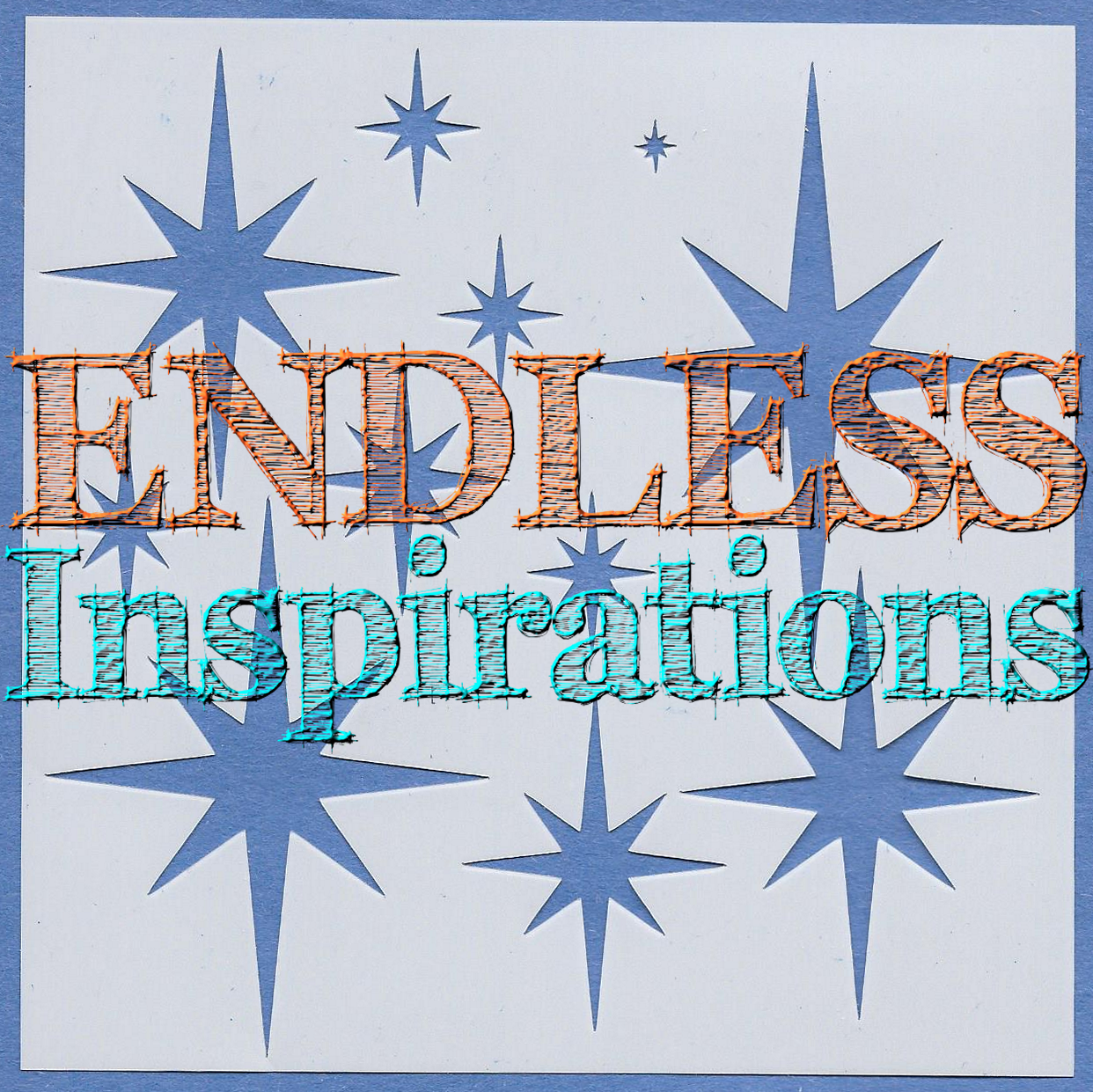 Endless Inspirations Original Stencil, 6 x 6 Inch, North Star - Redbird Inspirations