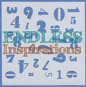 Endless Inspirations Original Stencils, 6 x 6 inch, Industrial Vibe Bundle 1, 4 Pack - Clockworks, Grill Master, Keys in a Row, Numbers - Redbird Inspirations
