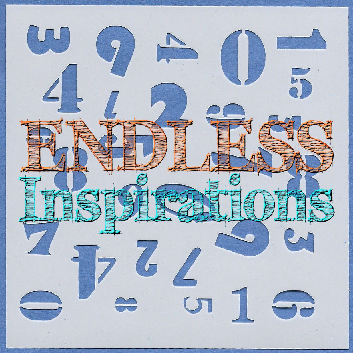 Endless Inspirations Original Stencil, 6 x 6 Inch, Numbers - Redbird Inspirations