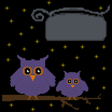 Load image into Gallery viewer, Endless Inspirations Original Cross Stitch Pattern, Owls & Stars - Redbird Inspirations