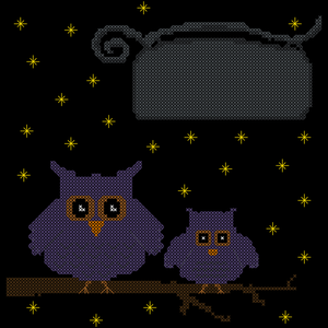 Endless Inspirations Original Cross Stitch Pattern, Owls & Stars - Redbird Inspirations