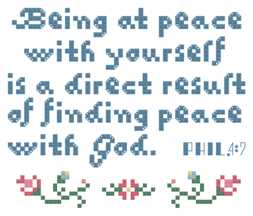 Endless Inspirations Original Cross Stitch Pattern, Philippians 4:7 - Redbird Inspirations