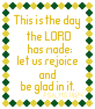 Load image into Gallery viewer, Endless Inspirations Original Cross Stitch Pattern, Psalms 118:24 - Redbird Inspirations