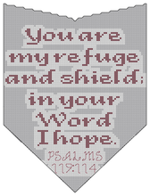 Load image into Gallery viewer, Endless Inspirations Original Cross Stitch Pattern, Psalms 119:114 - Redbird Inspirations
