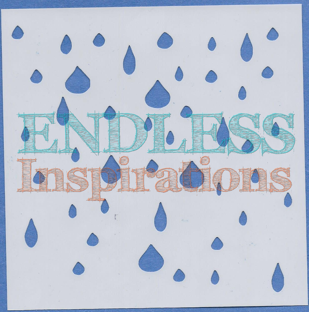 Endless Inspirations Original Stencil, 6 x 6 Inch, Raindrops Are Falling On My Head - Redbird Inspirations