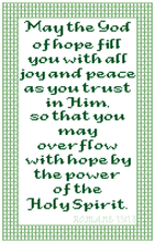 Load image into Gallery viewer, Endless Inspirations Original Cross Stitch Pattern, Romans 15:13 - Redbird Inspirations