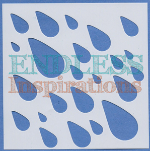 Endless Inspirations Original Stencil, 6 x 6 Inch, Scattered Showers - Redbird Inspirations