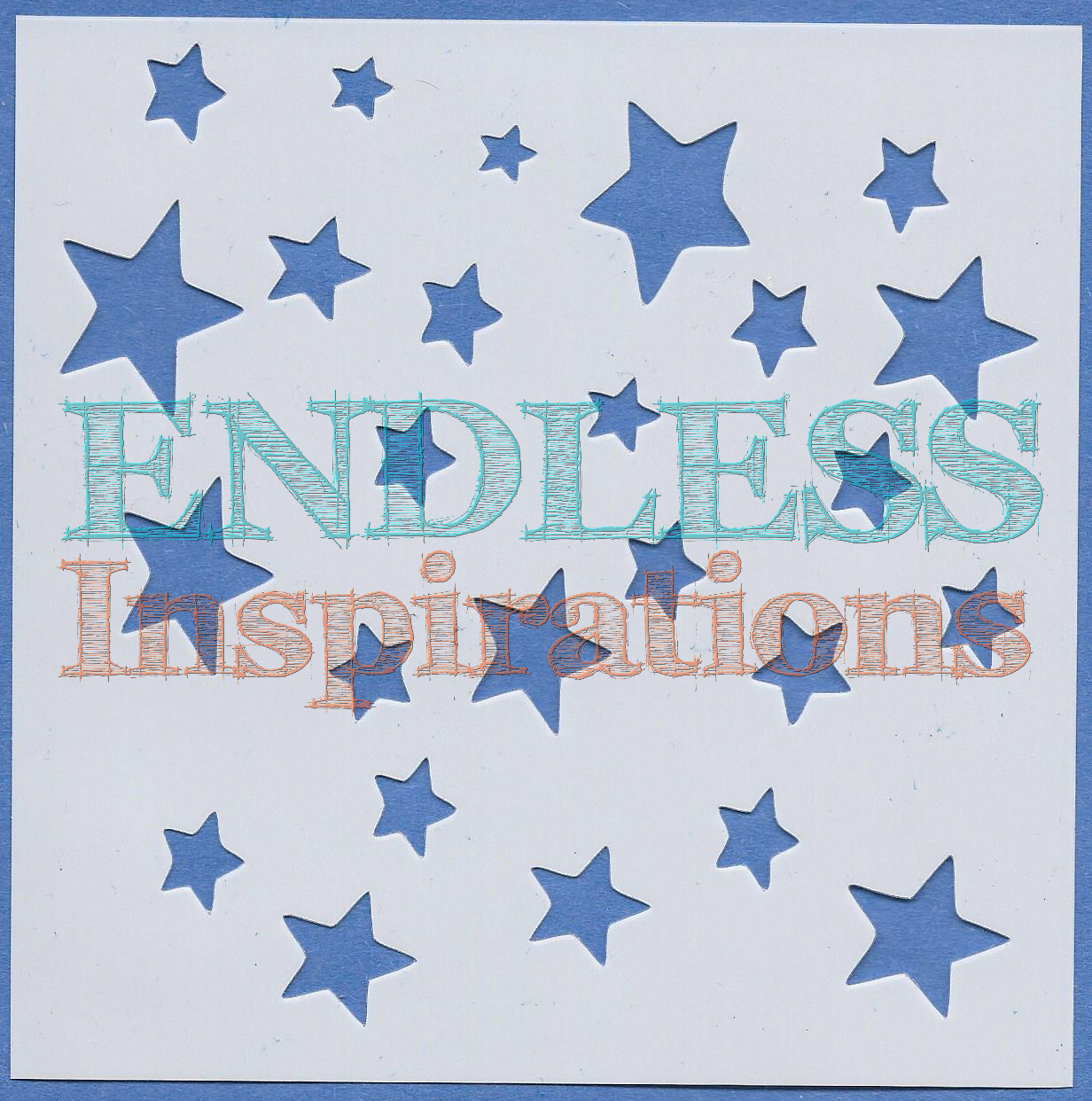 Endless Inspirations Original Stencil, 6 x 6 Inch, Scattered Stars - Redbird Inspirations