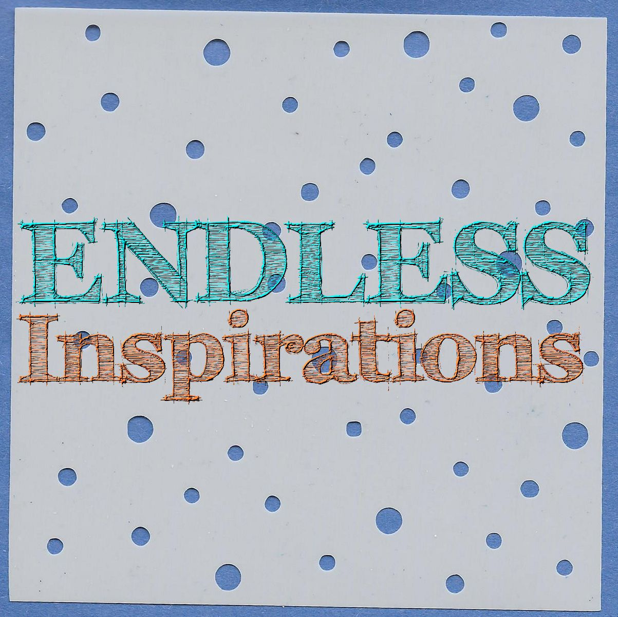 Endless Inspirations Original Stencil, 6 x 6 inch, Snow Day - Redbird Inspirations