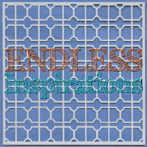 Endless Inspirations Original Stencil, 6 x 6 Inch, Victorian Lattice - Redbird Inspirations