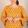 Premium Cotton Home Wear Top Bottom Set - Deep Yellow