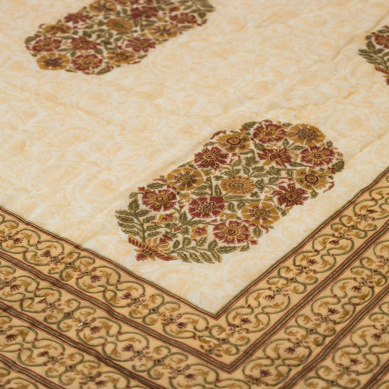 Cotton Quilt - Mughal Exclusive Maroon Border