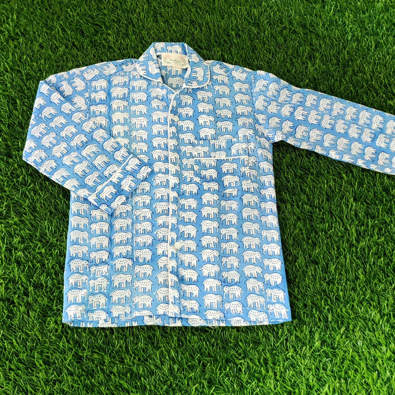 Kid's Night Suits - Blue Elephant