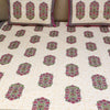 Cotton Bed Sheet - Mughal Exclusive Rani Pink Border