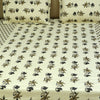 Cotton Bed Sheet - Ajrakh Patch Brown Petals