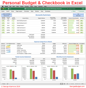 georges budget for excel template