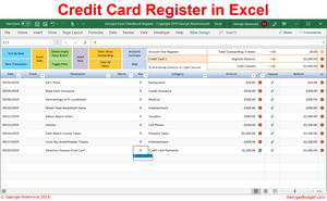 Reconcile credit card account excel spreadsheet