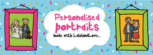 Personalised portrait gallery slide with two pictures