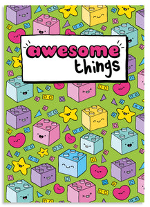Awesome things A5 blank notebook
