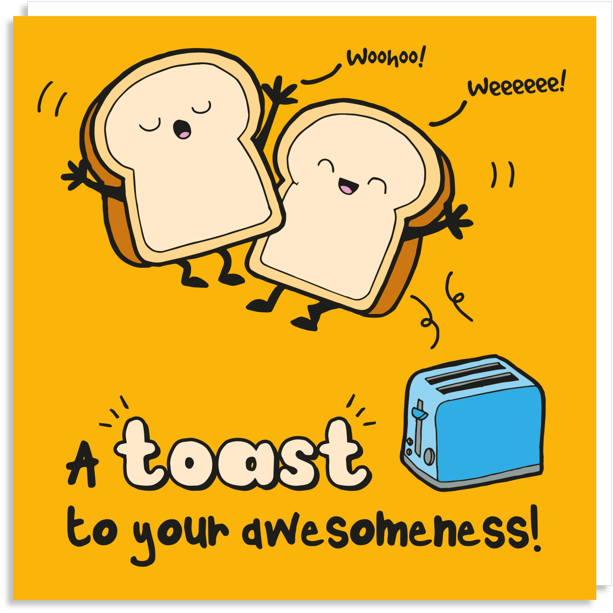Awesome toast greeting card