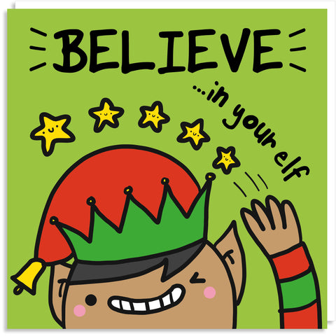 Believe in your elf Christmas card