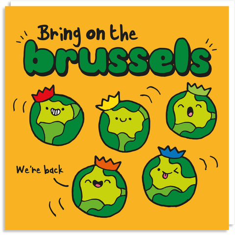 Bring on the brussels Christmas card
