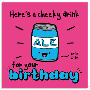 Cheeky ale greeting card