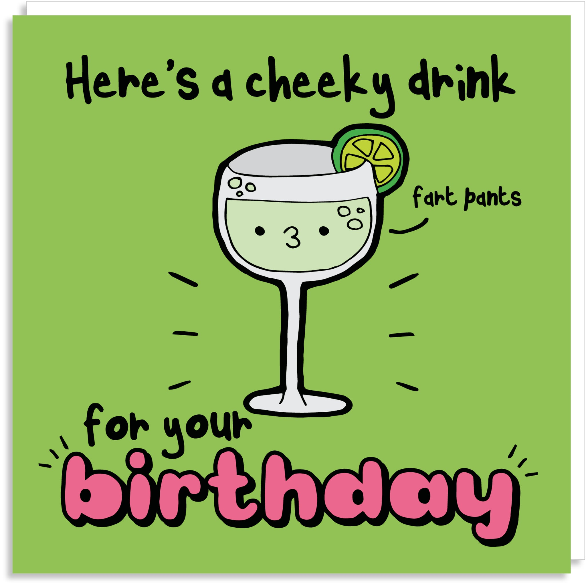 Cheeky gin greeting card