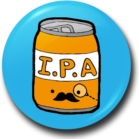 Beer snob button badge