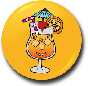 Colourful cocktail button badge