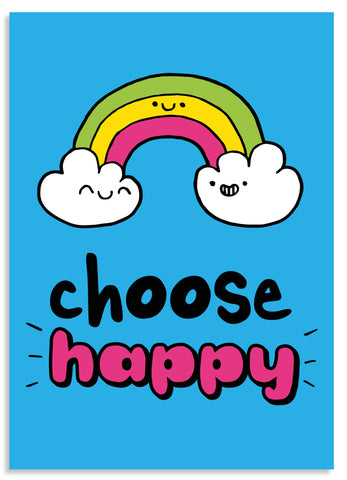 Choose happy postcard