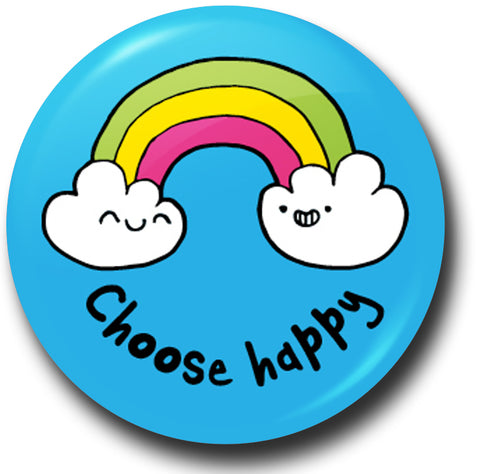 Choose happy button badge