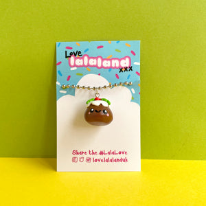 Cute Christmas Pudding Polymer Clay Charm