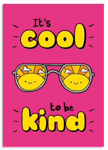 Cool to be kind postcard